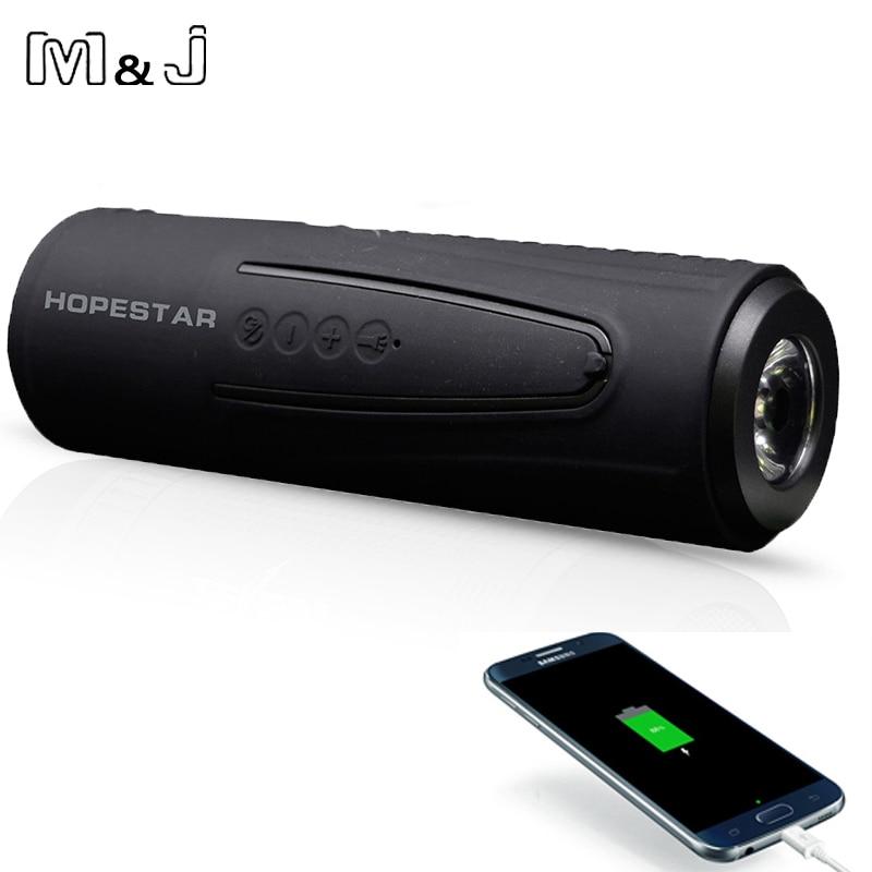 M&J P3 Wireless Bluetooth Speaker Outdoor Bicycle Portable Subwoofer Bass Speakers WaterprooF Power Bank + LED light +Bike <font><b>Mount</b></font>