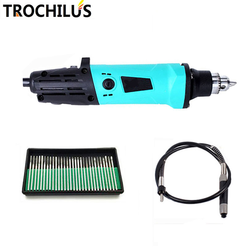 Trochilus 380W Mini Grinder Multifunctional Variable Speed angle grinder Power Tools DIY Creative Electric Engraver tool kits trochilus electric tools multi function electric grinder 240w variable speed abrasive polishing sculpture tool no accessorie