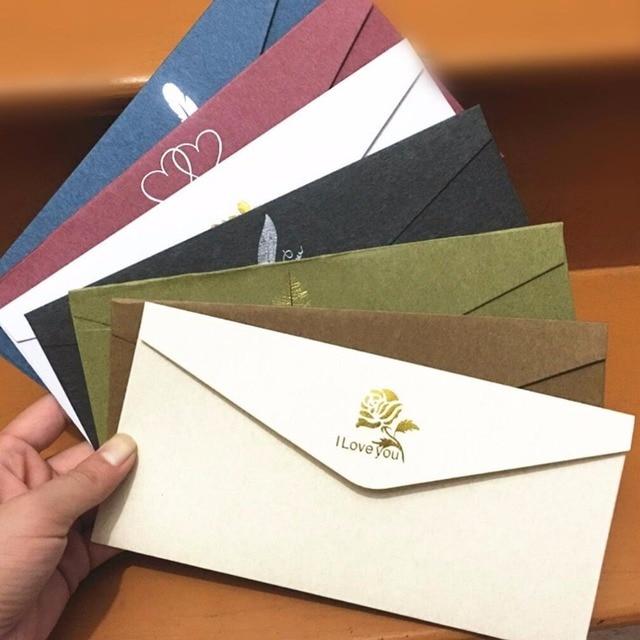 30 Pçslote Pérola Papel Dourado Envelopes Para Convites De