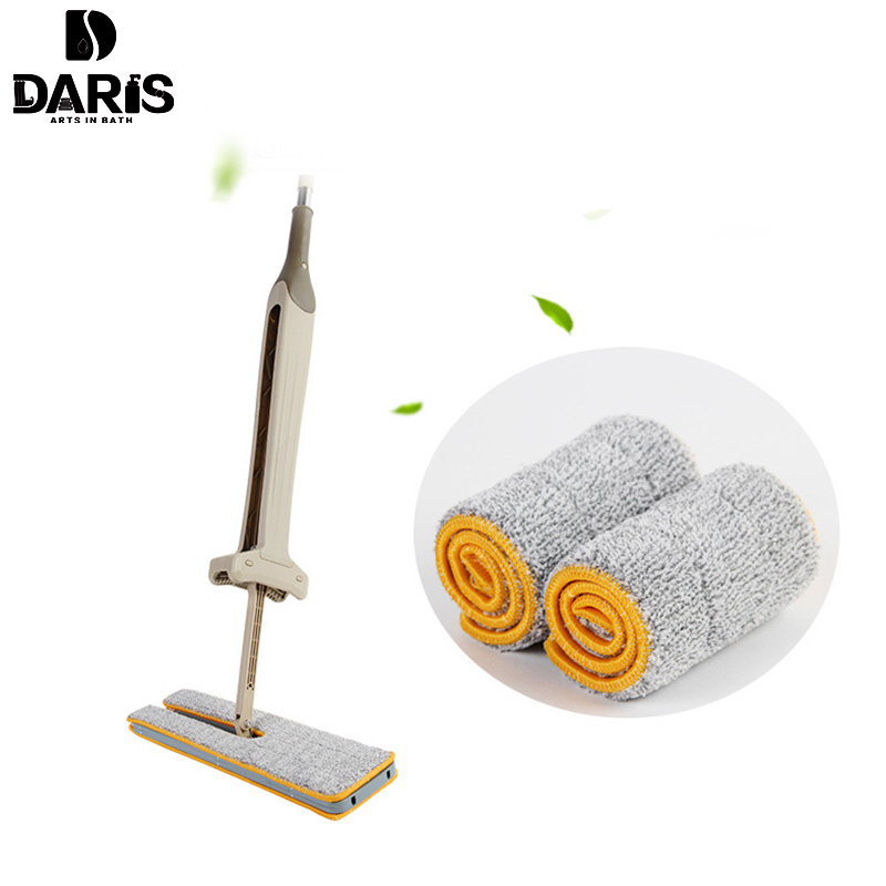 DARIS 4PCS Removable Floor Cleaning Cloth Washable Microfiber Pad The Mop To Replace Cloth Household Cleaning Mop Accessories