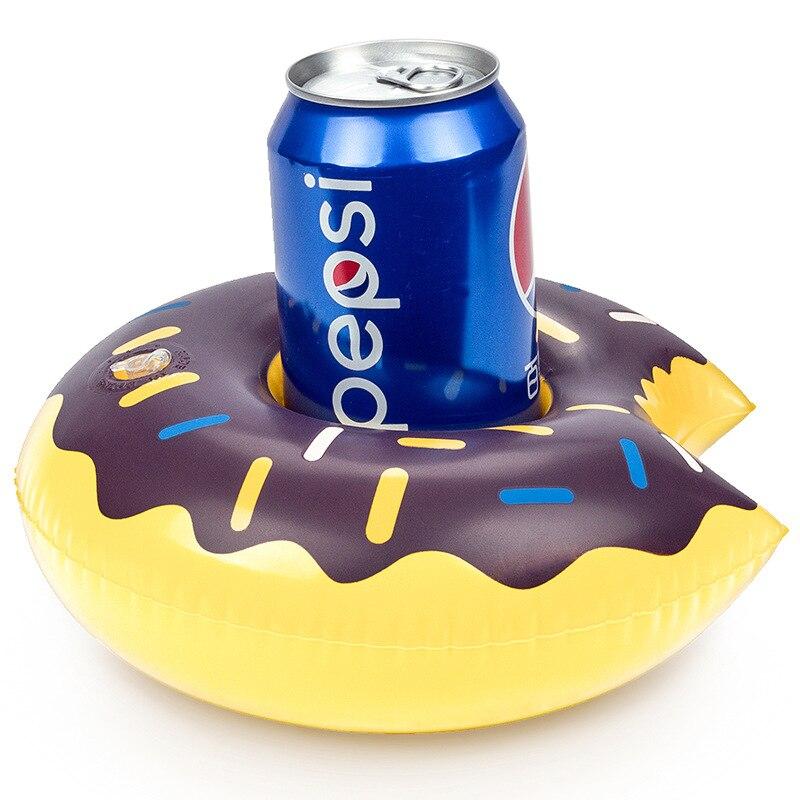Мини Единорог/Фламинго/пончик надувные подстаканник напитка лодки летний бассейн вечерние Гавайи вечерние поставки