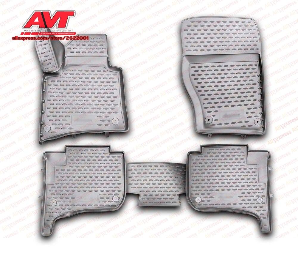 Коврики для Volkswagen Touareg II 2010-4 шт. резиновые коврики Нескользящие резиновые аксессуары для интерьера автомобиля