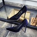 Spring Pointed Toe Velvet High Heels Stiletto Wedding Party Shoes Women Sexy Pumps Rhinestone Slip on Shoes