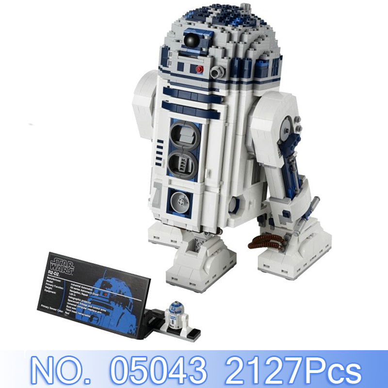 Lepin 05043 2127Pcs Star Wars Series The R2-D2 Robot Model Building Kits Figures Blocks Bricks Compatible Toy For Children 10225 robot building blocks lepin 05043 2127pcs star series wars r2 d2 bricks model educational toys 10225 children boys toys gifts
