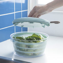 Creative Spin Salad Spinner Kitchen Acccessories Vegetables Dehydrator Dryer Fruit Colander Basket Kitchen Gadgets Salad Tools(China)
