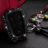Luxury Diamond Jewelry Decoration Car Key Case Cover for Cadillac ATS XTS XT5 CTS SRX 2015 2016 ATS L CT6 2016 CT6 Plug in 2017
