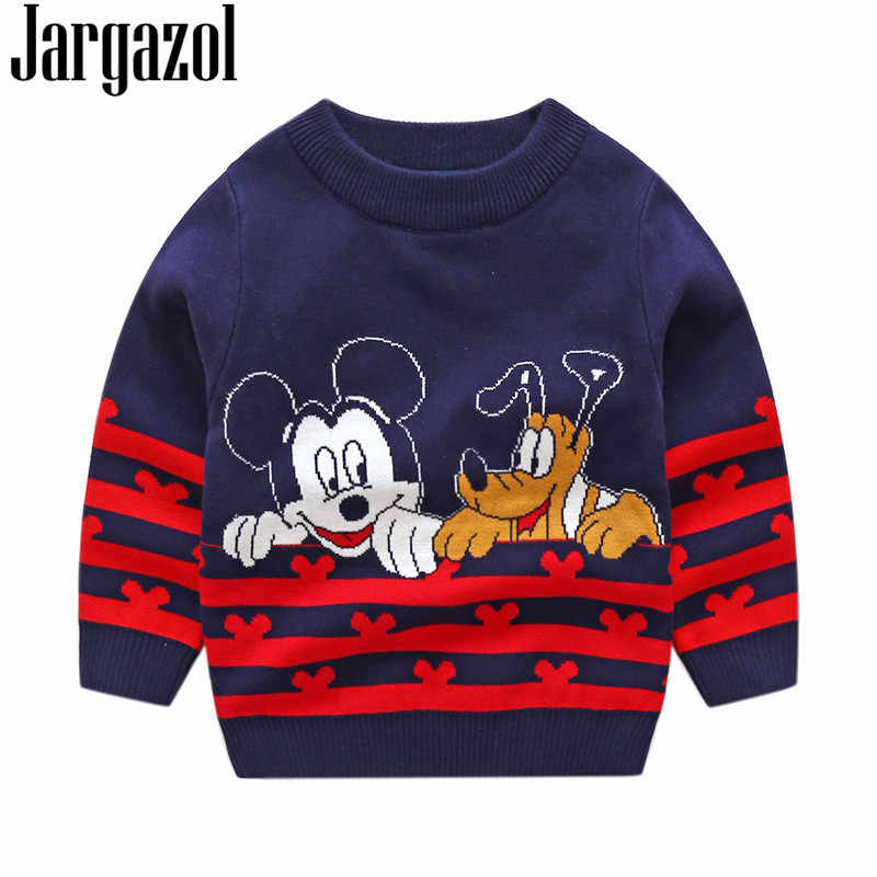 02608eb5e Girls Sweater Autumn Winter Boys Sweaters Kids Clothes Mickey Dog Cartoon  Embroidery Christmas Children Boys Jacquard