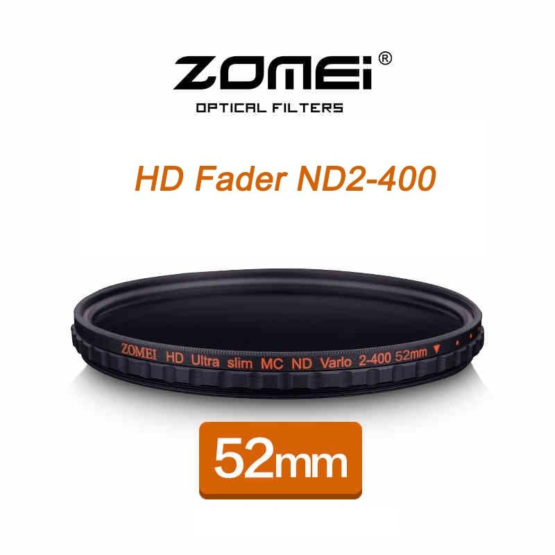 ZOMEI HD Slim Fader 52mm MC Adjustable Neutral Density ND2 ND4 To ND400 Filter For Nikon D3300 D3200 D3100 D5100 D5200 Lens 1set 52mm 0 45x wide angle macro lens for nikon d3200 d3100 d5200 d5100 digital hot