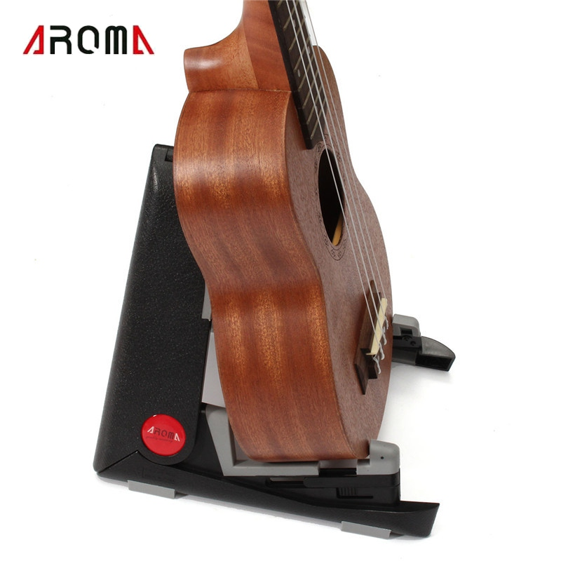 Aroma Floor Stand Guitarra Holder Folding Acoustic Bass Musical Instruments Frame Ukulele Plastic Stand Guitar Accessories 3 holder iron foldable acoustic electric bass guitar guitarra stand holder bracket mount for musical instruments part accessoris
