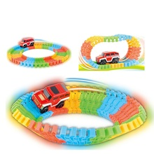 kid toy motor driven building block orbit vehicle Children's Toys vehicle Colourful Cartoon Alpine oxtail Rail Toys Kid Gift