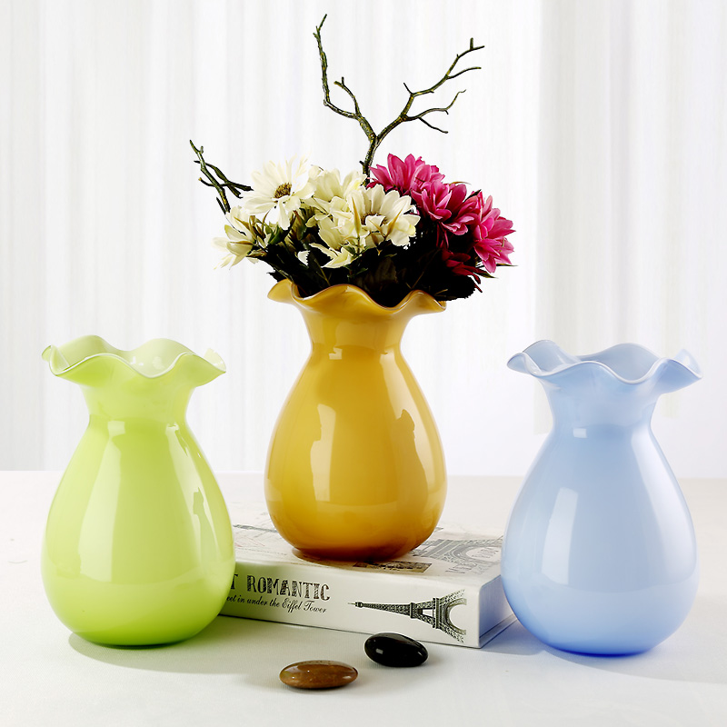 Fashion Multicolour Glass Vase Decoration Living Room Dining Table Flower Hydroponics