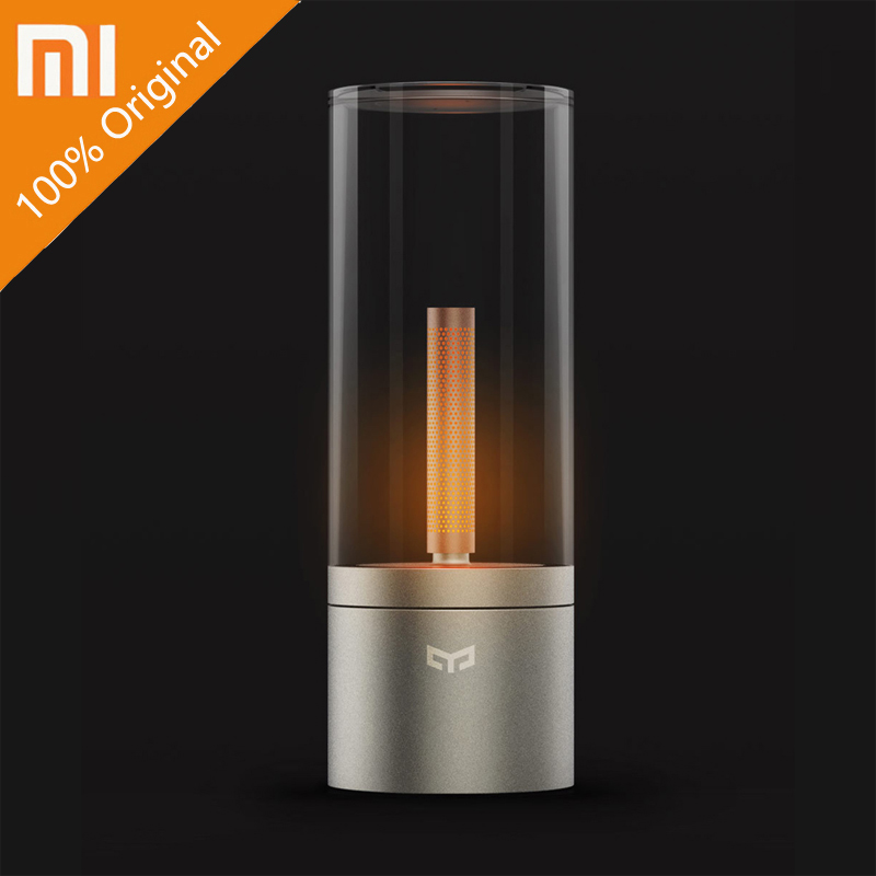 Original xiaomi YEELIGHT mijia Candela Smart Control led night light Atmosphere light for Mi home app Xiaomi smart home kits xiaomi yeelight led ceiling pro 650mm rgb 50w work to mi home app and google home and for amazon echo for xiaomi smart home kits