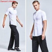Men's Ballroom Dance Suit Adult Latin Dance Practice Clothes Tops or Pants or Set For Men's Ballroom Waltz Dance Costumes