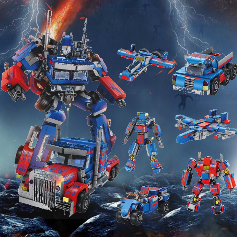 Compatible Legoing Technic Transformation 384pcs 2in1 Optimus Transform Prime Robot Car Big Truck Blocks Models Legoings Technik Pure Whiteness Toys & Hobbies