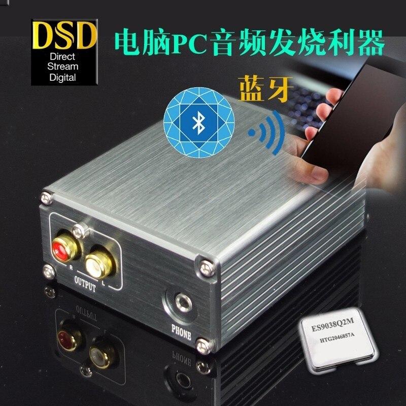 Bluetooth 5.0 stéréo + XMOS U8 USB DSD PCM 32Bit-384 K HIFI audio USB décodeur DAC avec casque sortie 3.5mm