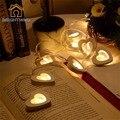 2 M 20 LED de La Batería Cadena de Amor Del Corazón de Madera Patio de Luz Para Jardín Fiesta de Navidad de Hadas Accesorios de Cadena luz