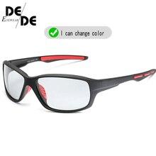 Hot Sale Photochromic Polarized Sunglasses Men Classic Pilot Metal Frame Sun Glasses  Chameleon Day Night Driving Sunglass