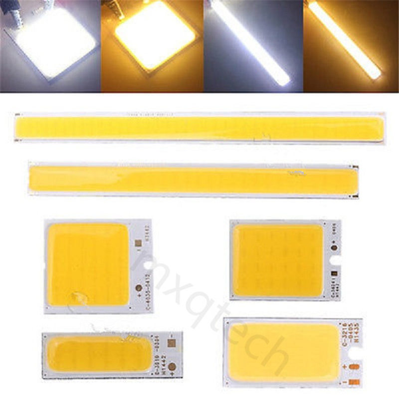 1.8-6W COB LED Light Chip LED Strip Bar Light Pure White Warm White Home Bulb for DIY Car Auto Lights Source DRL Lamp DC12V [sumbulbs] 200x10mm 0422 10w led light cob strip lamp dc 12 14v 1000lm green yellow red blue warm white pure white drl car light