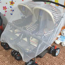 Double Baby Infants/Twins White Mosquito Net Pram Pushchair Cover Carriage For Baby Stroller