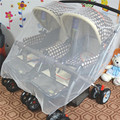 Duplo Bebê Bebês/Twins Pram Pushchair Mosquito Branco Net Capa Para O Transporte de Bebê Carrinho De Criança