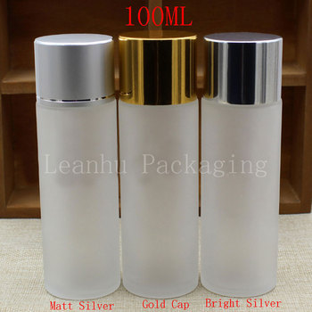 Wholesale 100ml Frosted Glass Bottle,100cc Toner/Emulsion/Water Bottle,Cosmetics Packaging Container