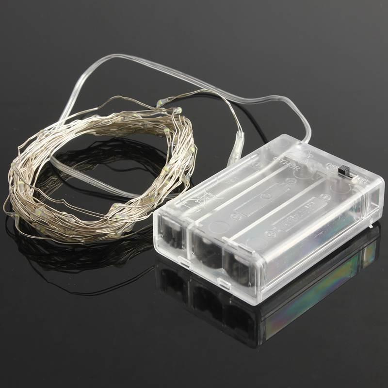 3M 30LEDs wayar tembaga LED lampu tali bateri yang dikendalikan untuk - Pencahayaan perayaan - Foto 6