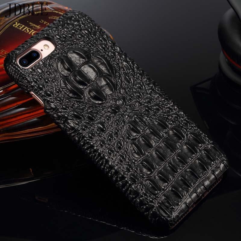 JDBLE Genuine Leather Case For Samsung Galaxy S8 Plus S8 Luxury 3D Crocodile Design Hard for iPhone 7 6 7plus 6SPlus Case JS0484