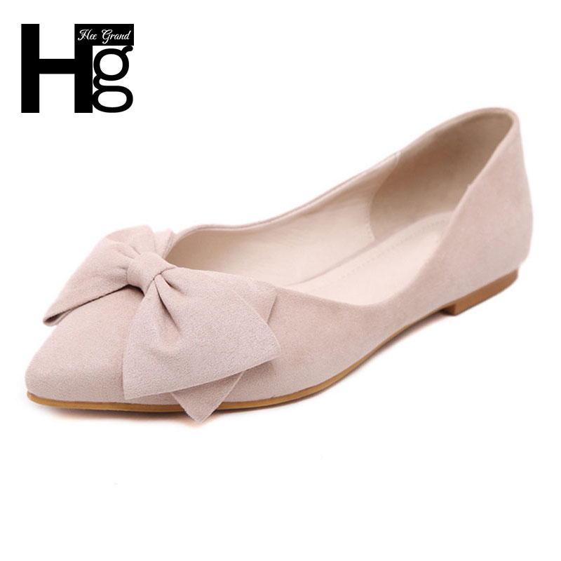 Hee grand plus tamaño 34-43 de las mujeres dulces pisos moda señaló Toe con Gran