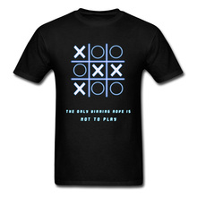 Tic-tac-toe Tops Tees Not To Play T-shirt Men Funny Designer Summer Tshirt Oversized Adult Game T Shirt University Swag Camiseta цена