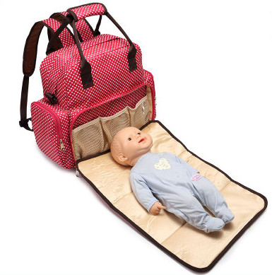 ФОТО Promotion! Baby Nappy Bag Backpack High-Capacity Mother Bag Baby Bags Multifunctional Insulation Bottle Nappy Bags