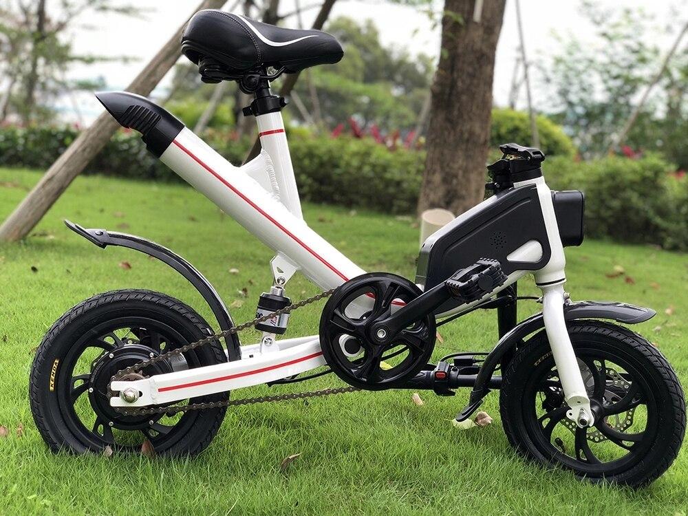 Gerade Elektrische Batterie Fahrrad 350 Watt Motor Faltbare 350 Watt Mit Suspension Lange Palette Assistent Modus 12 Zoll Roller Sport & Unterhaltung