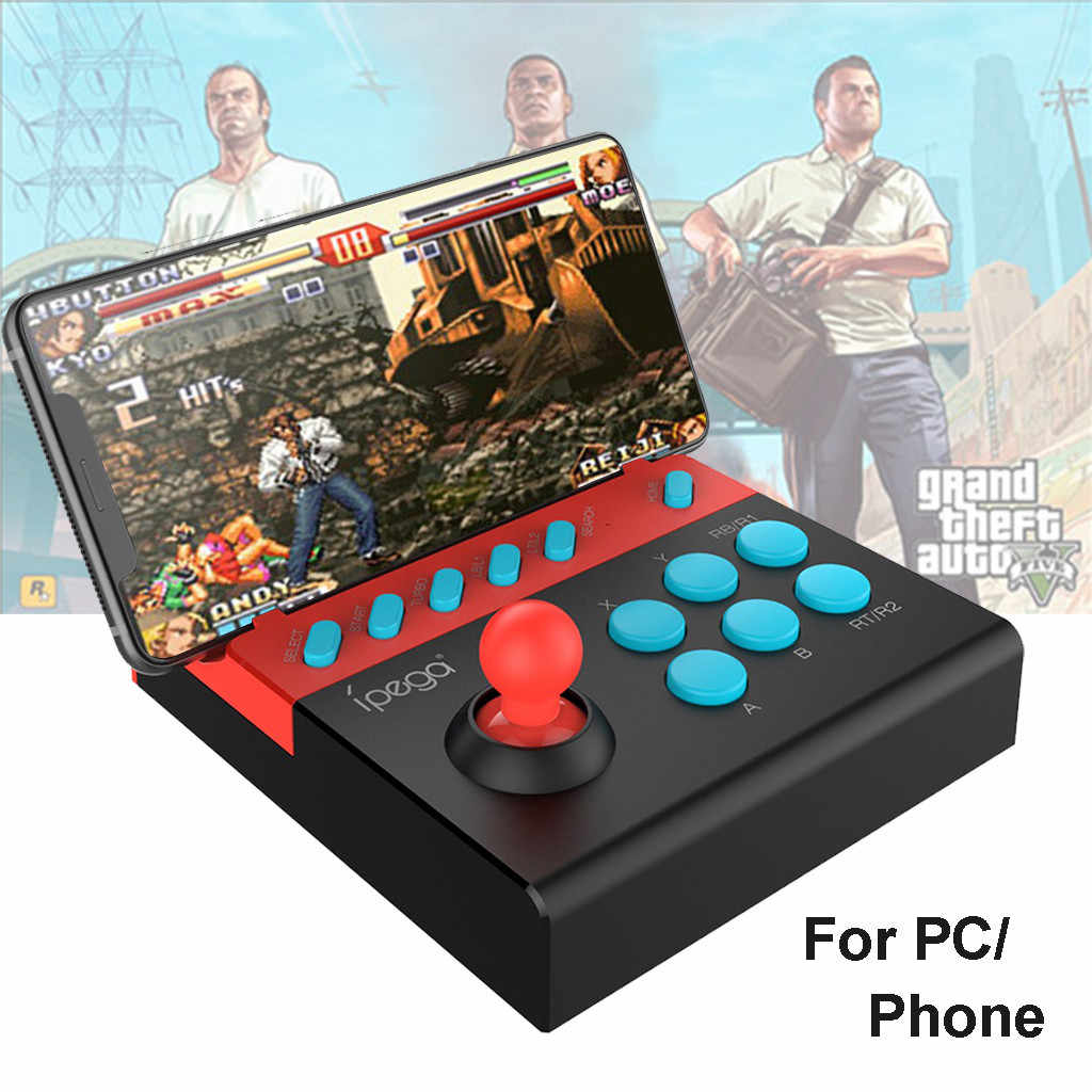 Game PC PG-9136 Arcade Joystick Bluetooth USB Melawan Stick Controller Gamer untuk Ponsel/PC Handle Game Retro Handheld PC permainan