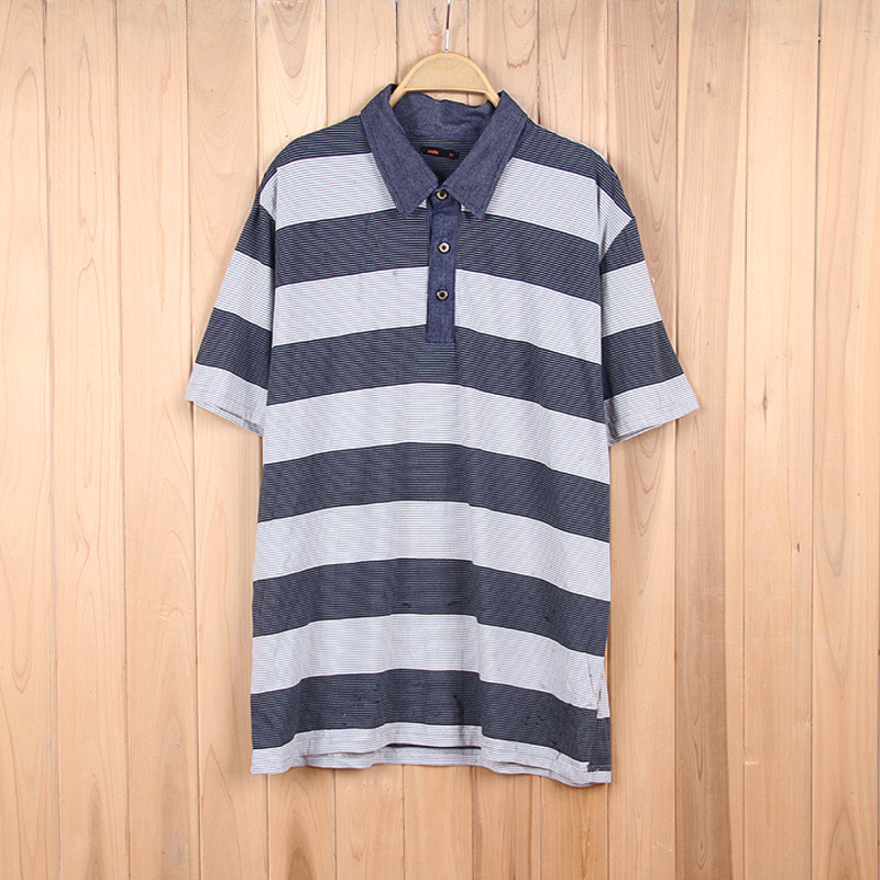 Homme Marque Hommes À Courtes Casual Polo Rayé Luxe Manches nOX8wP0k