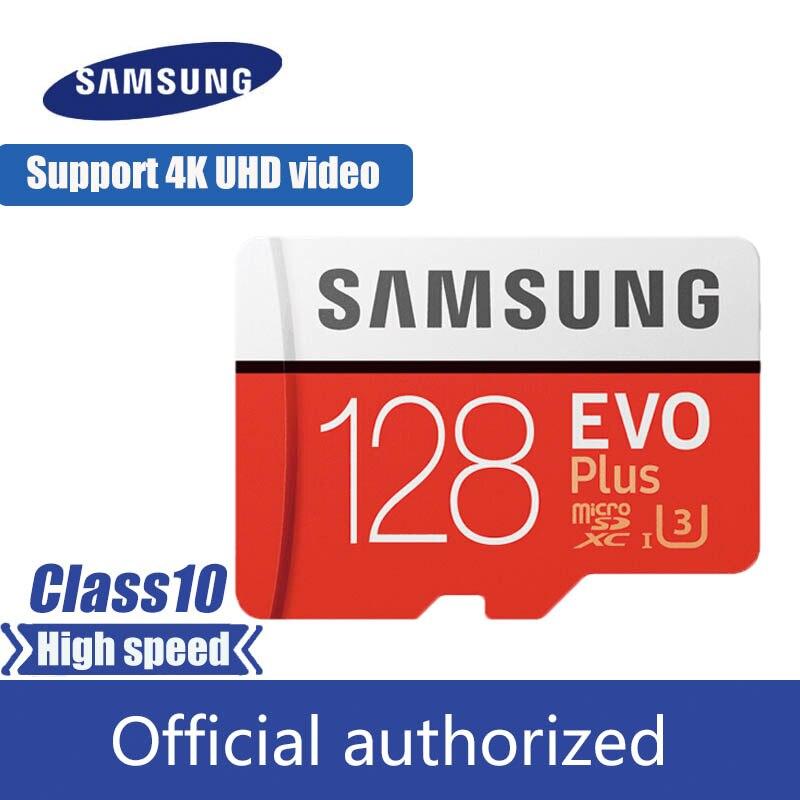 SAMSUNG Micro SD kart 128 GB bellek kart EVO artı 128 GB Class10 TF kart C10 microsd UHS-I U3 ücretsiz kargo cartao de memoria