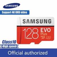 SAMSUNG carte Micro SD 128 GB carte mémoire EVO Plus 128 GB Class10 TF carte C10 microsd UHS-I U3 livraison gratuite cartao de memoria