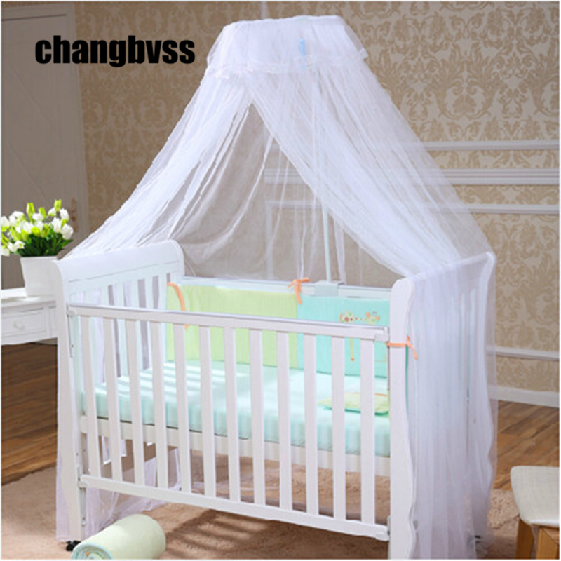 2015 Hot Sale Baby Crib Canopy Tent Kids Crib Mosquito Net White Color Baby Infant Kids Bed Net Cortina Para Cama Dossel mosquito nets curtain for bedding set princess bed canopy bed netting tent