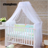 2015 Hot Sale Baby Crib Canopy Tent Kids Crib Mosquito Net White Color Baby Infant Kids Bed Net Cortina Para Cama Dossel