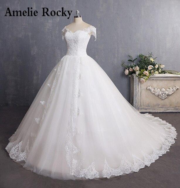 Vestidos De Novia 2018 Vintage Wedding Gowns Cap Sleeve Ball Gown ...