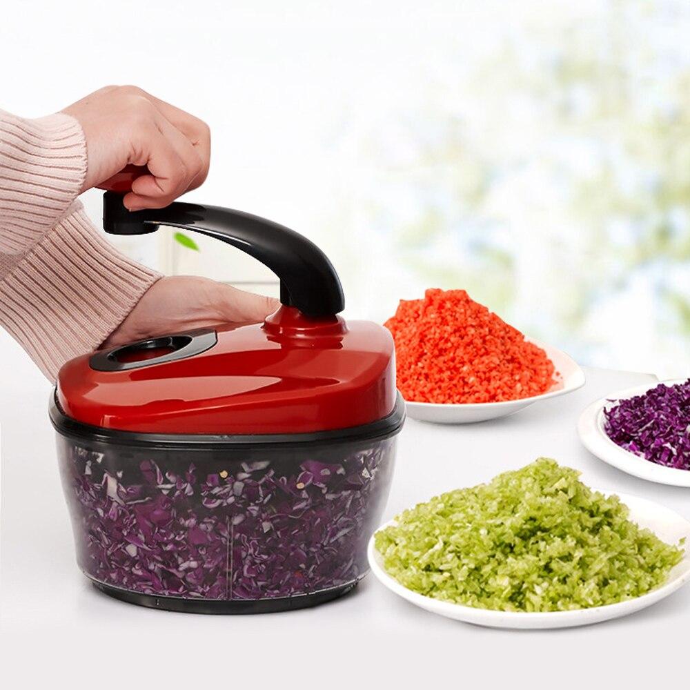 Multifunctional Manual Vegetable Slicer Fruit Cutting Kitchen Tools Manual Vegetable Meat Cutter Portable Blender Food Chopper