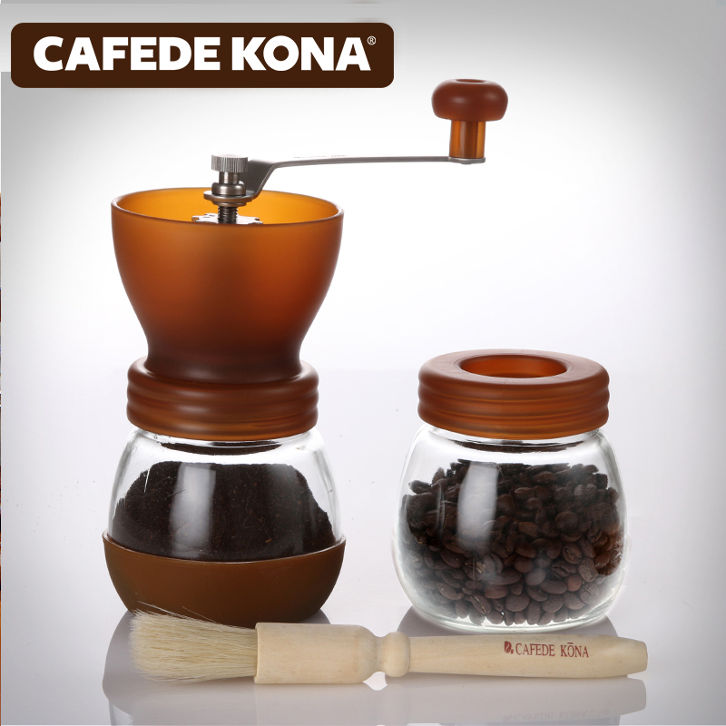 Household hand - shake grinding machine coffee beans grinding combination sealed tank mill цена