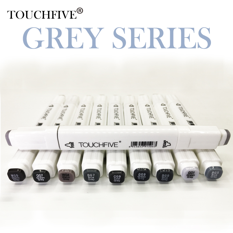 Touchfive gray tone Art Marker Set Alcohol Based brush pen liner Sketch Markers twin For Manga Anime Drawing art suppliesTouchfive gray tone Art Marker Set Alcohol Based brush pen liner Sketch Markers twin For Manga Anime Drawing art supplies