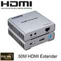 Full HD1080p/60Hz HDMI Extender 50M with Loop-out ,IR Cat-5e /6 HDMI Receiver /Transmitter Support HDMI1.4a, 3D ,EDID For HDTV