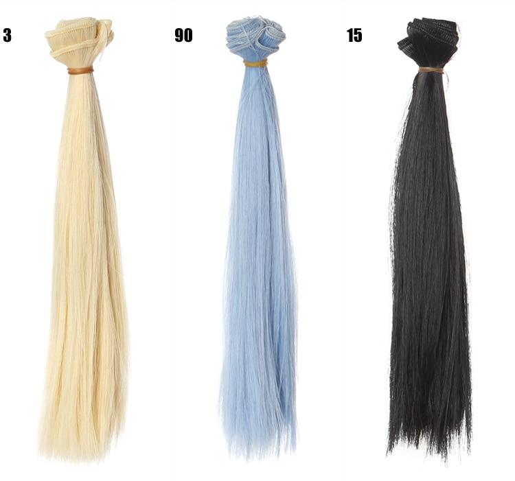 1pcs-hair-refires-bjd-hair-25cm100CM-black-pink-brown-khaki-white-grey-color-long-straight-wig-hair-for-13-14-BJD-diy-4