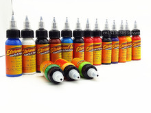 Tattoo Ink 16 Colors Set 1 oz 30ml/Bottle Tattoo inks Pigment Kit for 3D makeup beauty skin body art Permanent makeup недорого