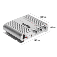 Mini HiFi Sliver 12V 200W CD MP3 Radio Car Auto Motor Boat Home Audio Stereo Bass