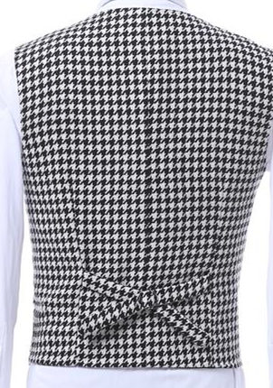 Customize-Houndstooth-Groom-Tuxedos-Shawl-Lapel-One-Button-Side-Vent-Men-Wedding-Blazer-Men-Prom-Dinner (4)