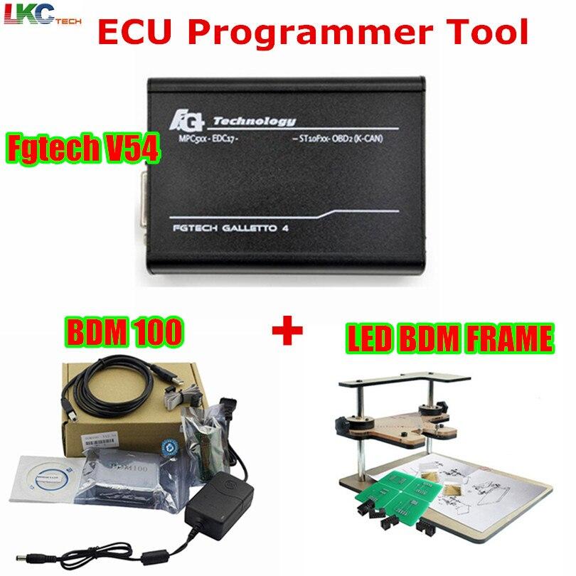 Fgtech Galletto 4 Maître v54 FG Tech Multi-Langue + BDM100 V1255 + BDM cadre Complet Adaptateur ECU Chip Tuning Outil Fg Tech DHL Livraison