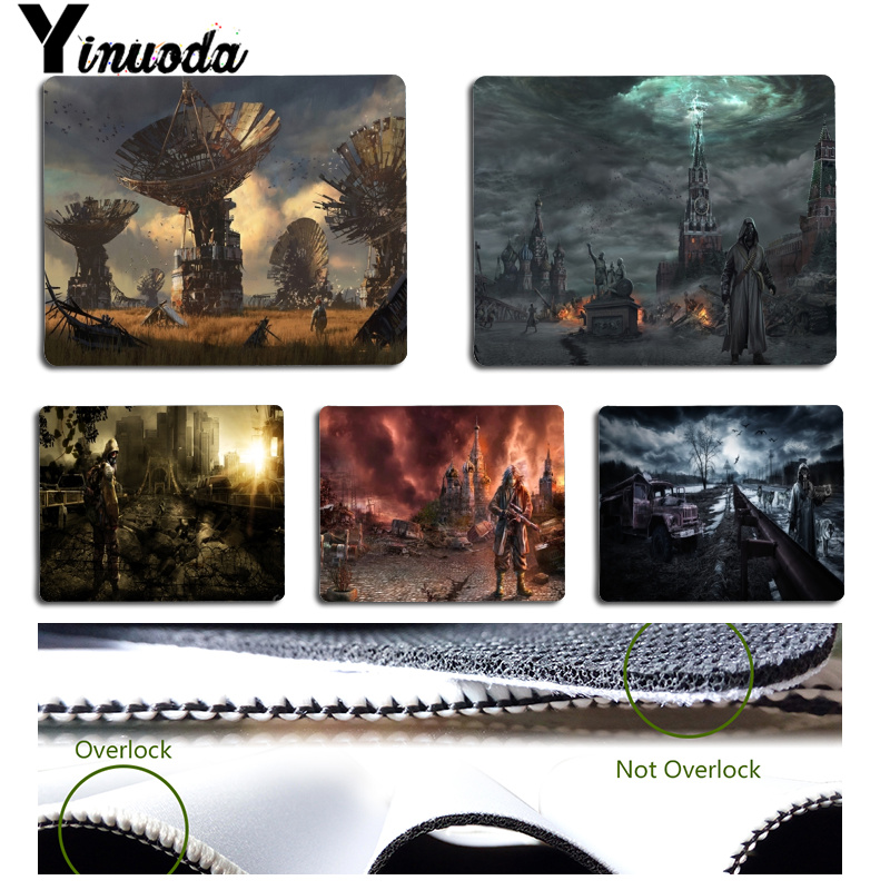 Yinuoda Post Apocalyptic Office Mice Gamer Soft Mouse Pad Size for 18x22x0.2cm Gaming Mousepads image