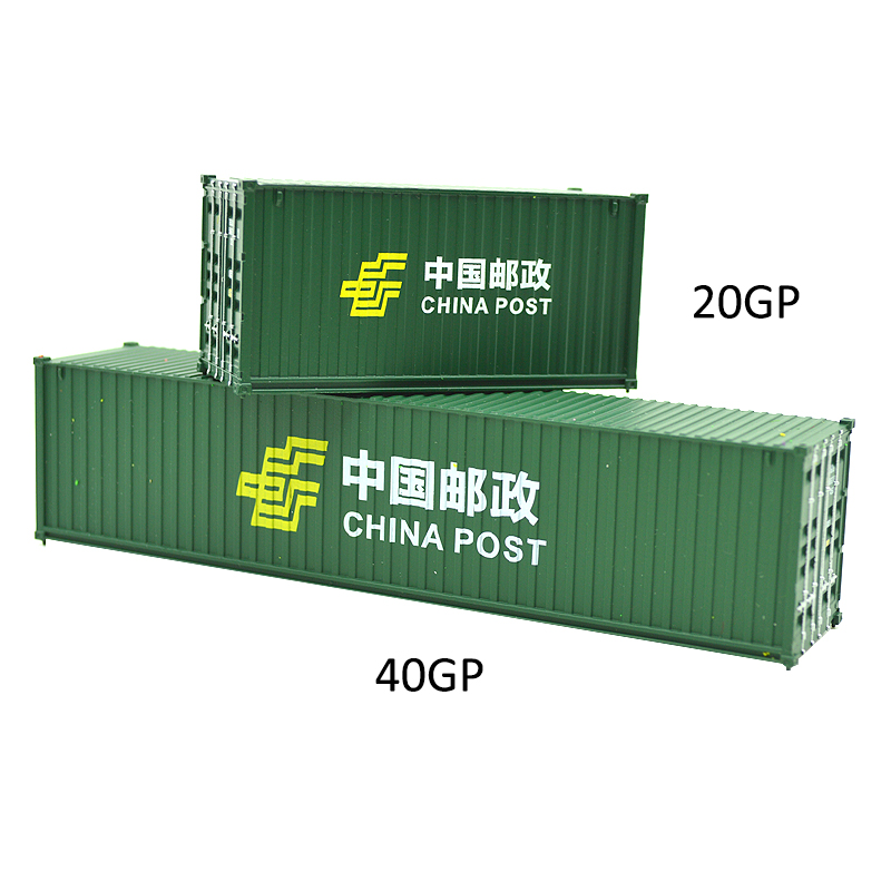 1:87 Scale Ho Model Train Railway Toy Truck 20ft &40ft CHINAPOST Shipping Container Freight Car For Model Building