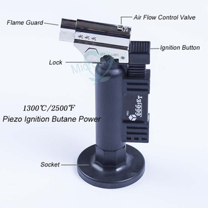 Image 2 - שיניים מכשיר בוטאן גז מיקרו לפיד מבער ריתוך הלחמה אקדח מצית להבה רתך Windproof אש מקור